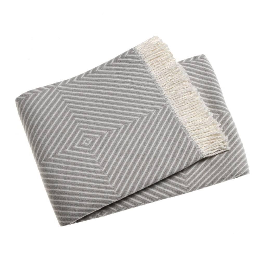 Euromant Svetlosivý pléd s podielom bavlny Euromant Tebas, 140×180 cm