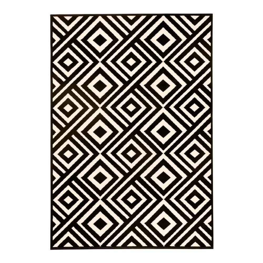 Hanse Home Čierno-béžový koberec Hanse Home Art, 140×200cm
