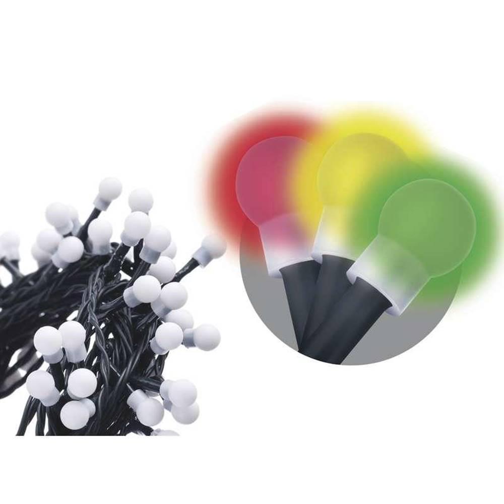 EMOS Vianočné osvetlenie Emos 80 LED, kulička, 8m, řetěz, vícebarevná,