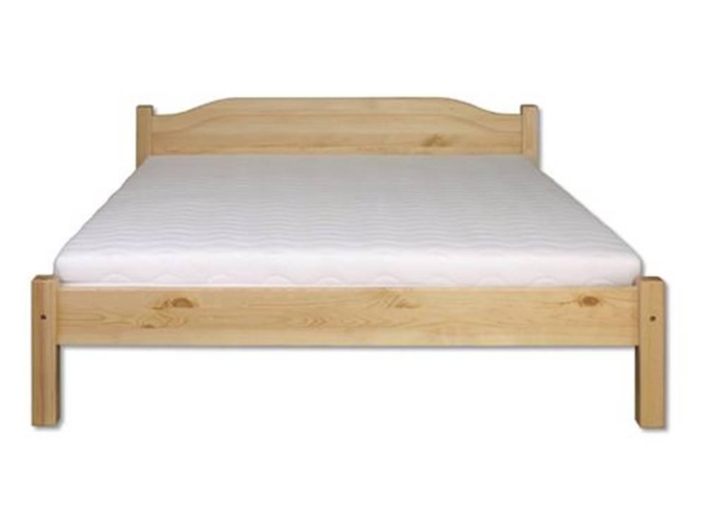 Drewmax Manželská posteľ - masív LK106 | 200cm borovica