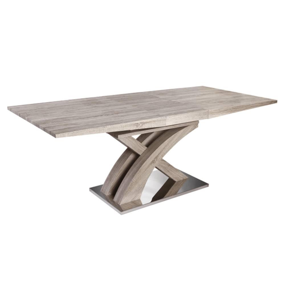 Tempo Kondela Jedálenský stôl dub sonoma BONET TYP 2 rozbalený tovar