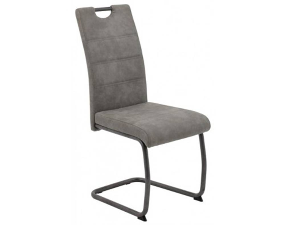 ASKO - NÁBYTOK Jedálenská stolička Flora 4, šedá vintage látka%