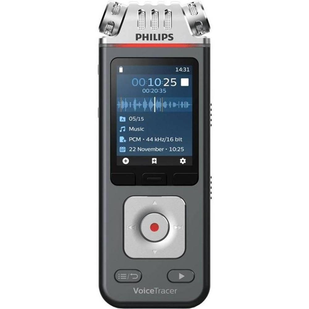 Philips Diktafón Philips DVT6110 čierny/strieborn