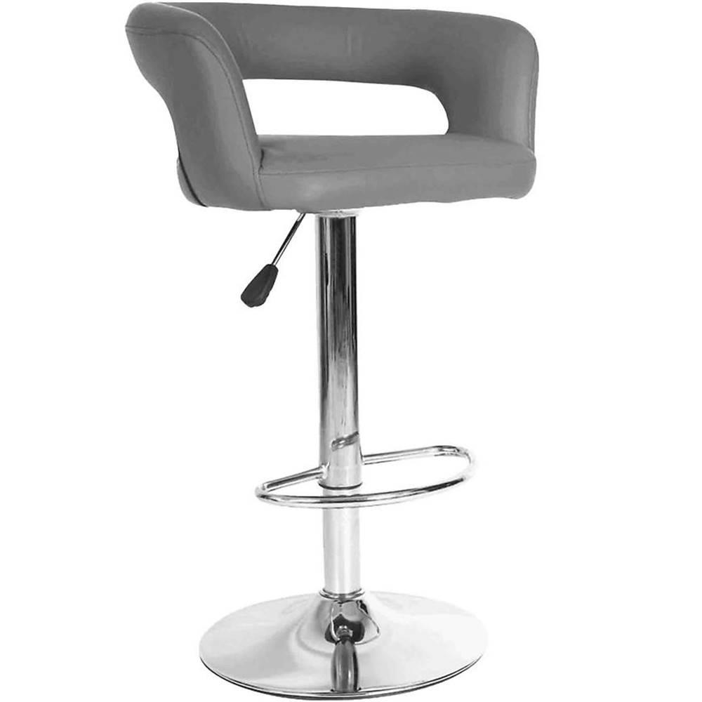 MERKURY MARKET Barová stolička Jupiter sivá 7166