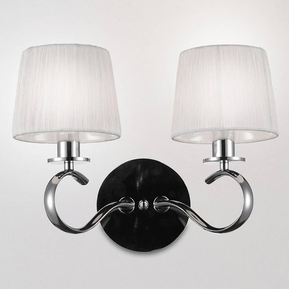 MERKURY MARKET Clara Svietniková lampa 2x40w E14 Chróm / Biela