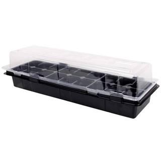 Miniparenisko MEDIUM 18 otvorov čierne 47x16x12cm 2ks