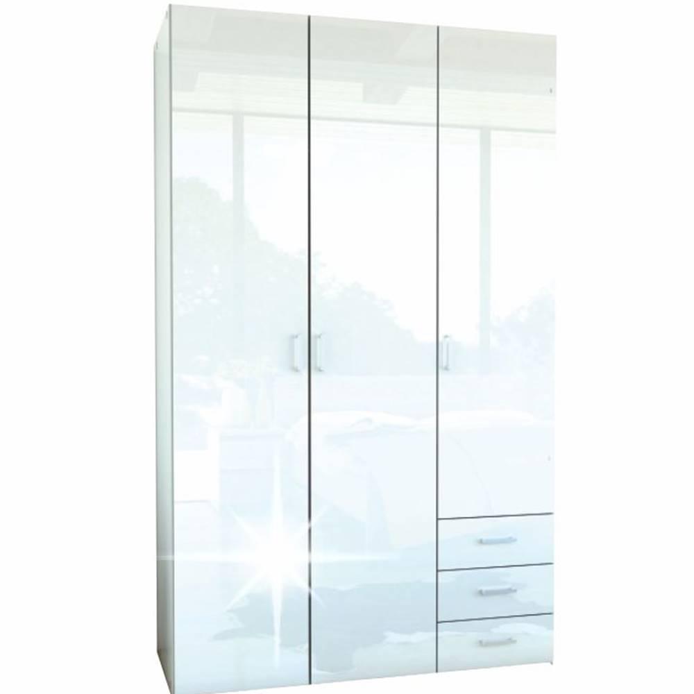 Tempo Kondela Skriňa 3 - dverová biela extra vysoký lesk HG GWEN 70427