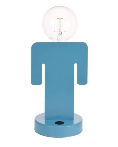 Modrá stolová lampa Fieldmann