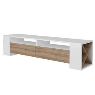 Televízny stolík SOSRUKO biela/orech