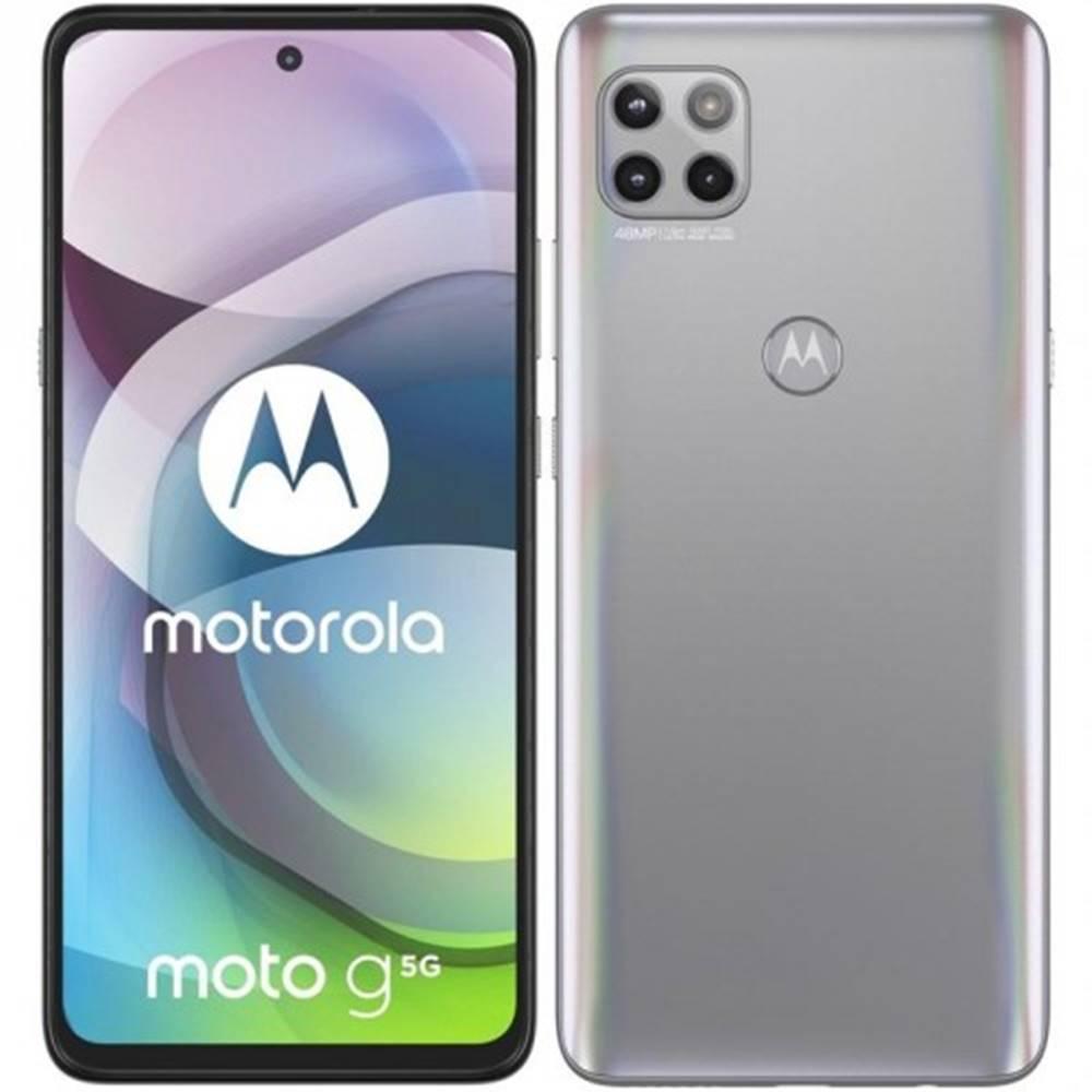 Motorola Mobilný telefón Motorola G 5G 6 GB/128 GB, strieborný