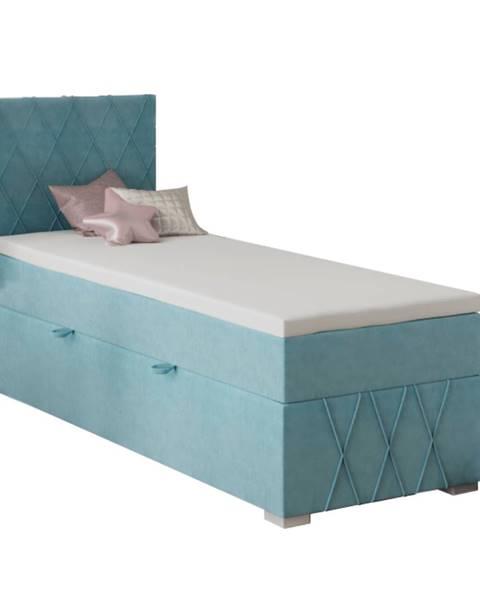 Modrá posteľ Tempo Kondela