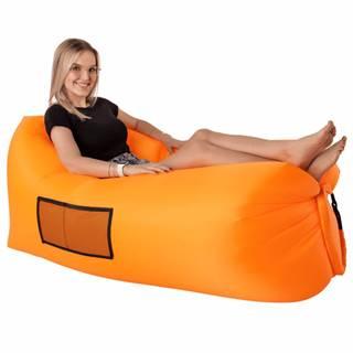 Nafukovací sedací vak/lazy bag oranžová LEBAG