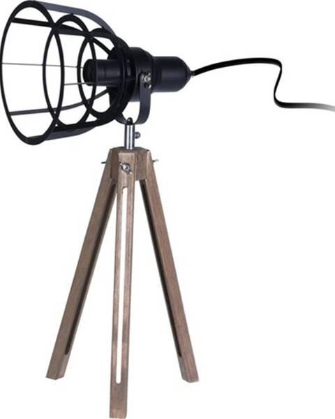 Čierna stolová lampa StarDeco