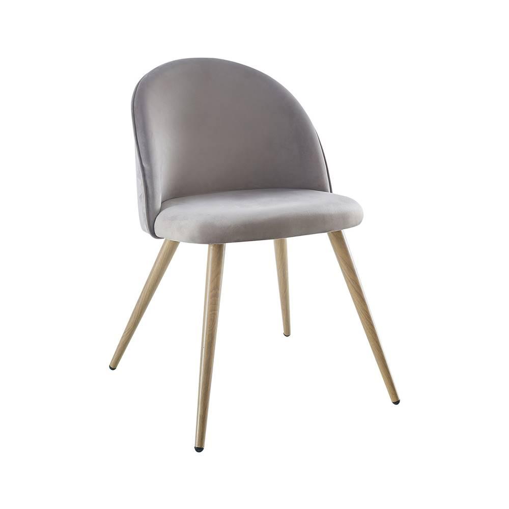 IDEA Nábytok Jedálenská stolička LAMBDA sivý zamat