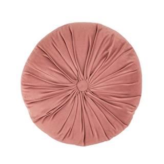 Ružový zamatový dekoratívny vankúš Tiseco Home Studio Velvet, ø 38 cm