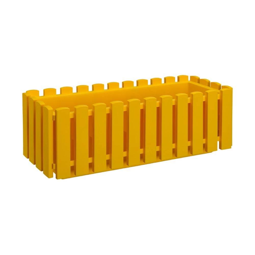 Gardenico Žltý samozavlažovací črepník Gardenico Fency Smart System, dĺžka 50 cm