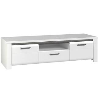 TV stolík Brugia BUGT131B sivá/biela lesklá