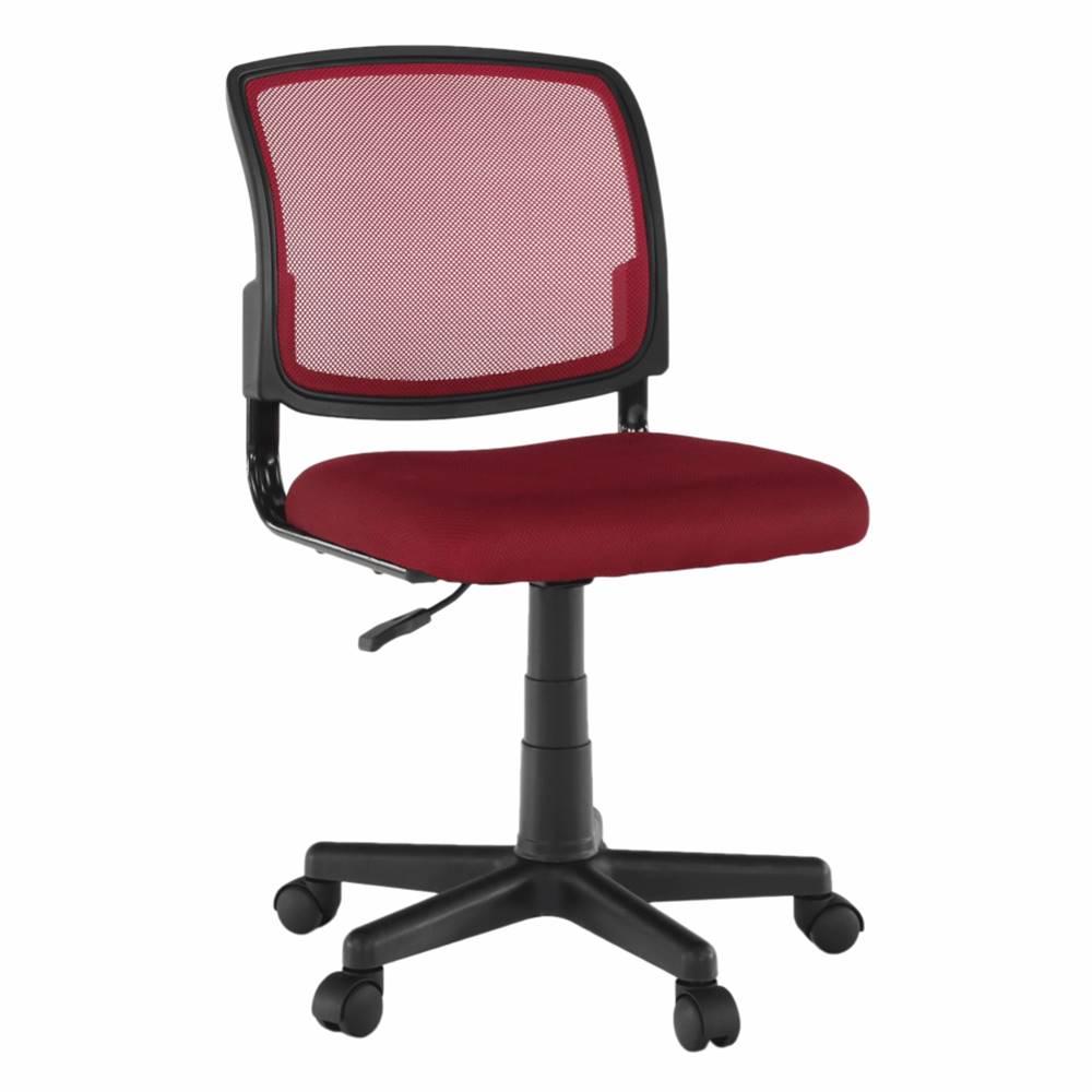 Tempo Kondela Otočná stolička tmavočervená/čierna RAMIZA