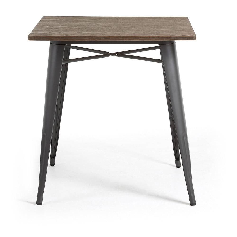La Forma Záhradný jedálenský stôl s bambusovou doskou La Forma Malibu, 80 x 80 cm