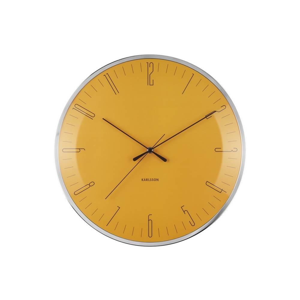 Karlsson Nástenné hodiny Karlsson Dragonfly, Dome glass KA5754YE, 40cm