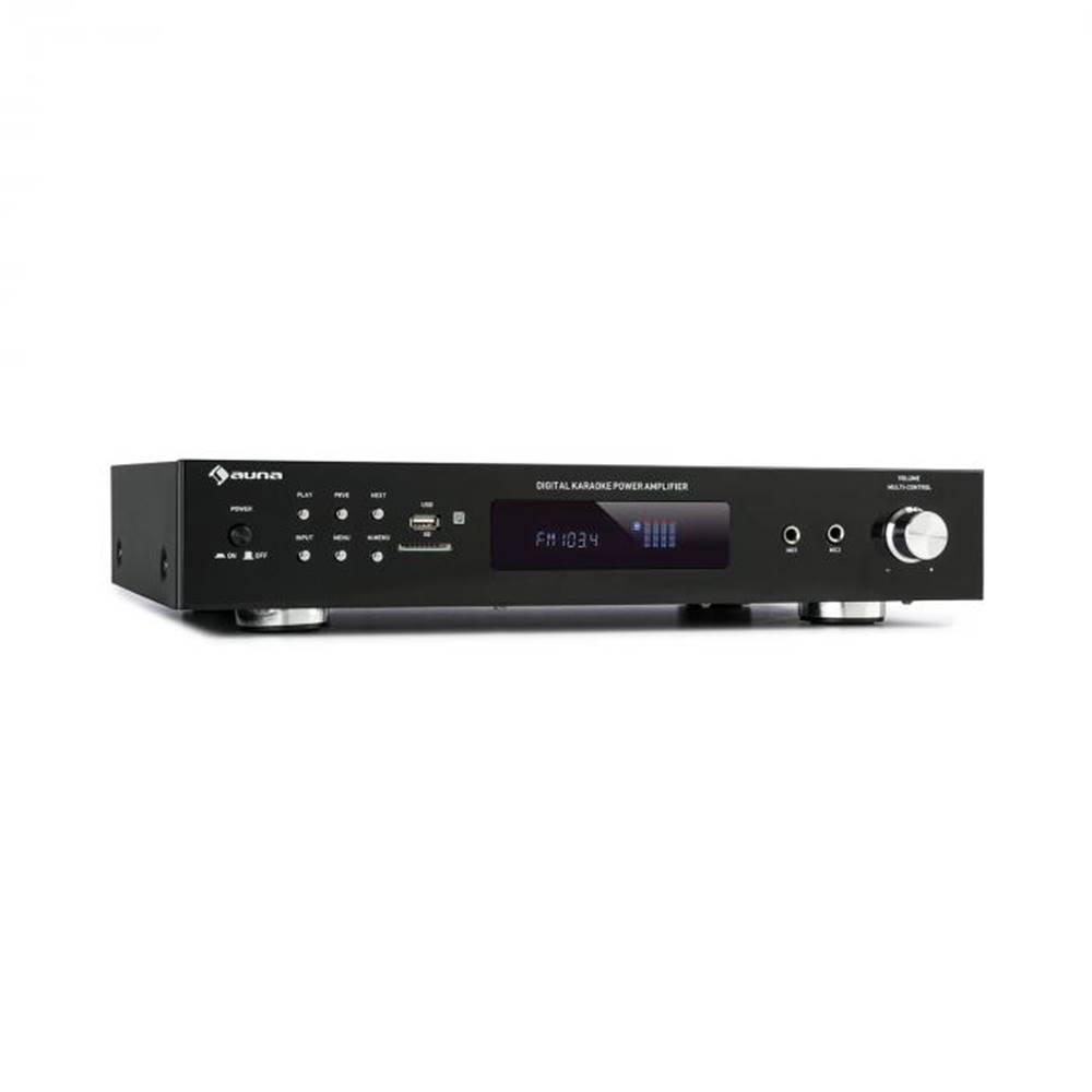 Auna Auna AMP-9200, BT, digiálny stereo zosiľňovač, 2x60W RMS, BT, 2xmikrofón, čierny