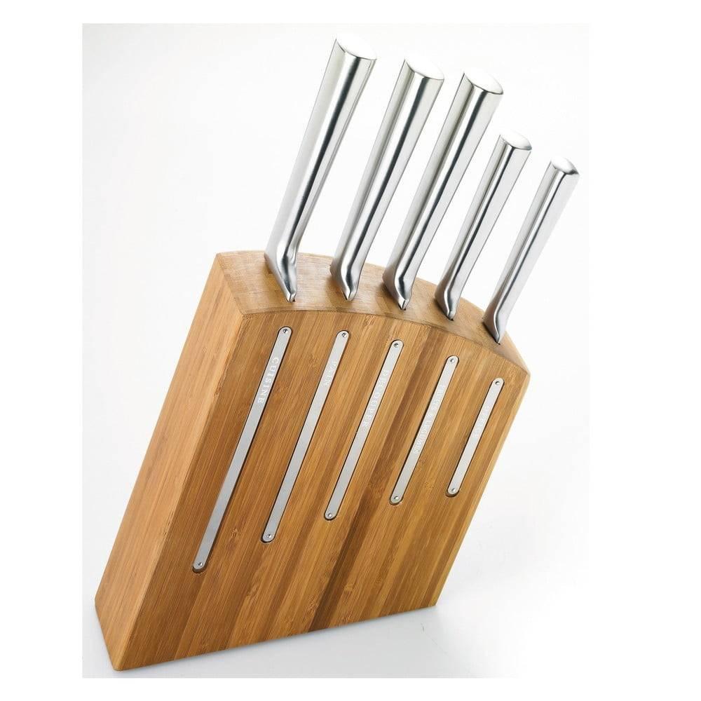 Jean Dubost Sada 5 nožov a stojana z bambusového dreva Jean Dubost