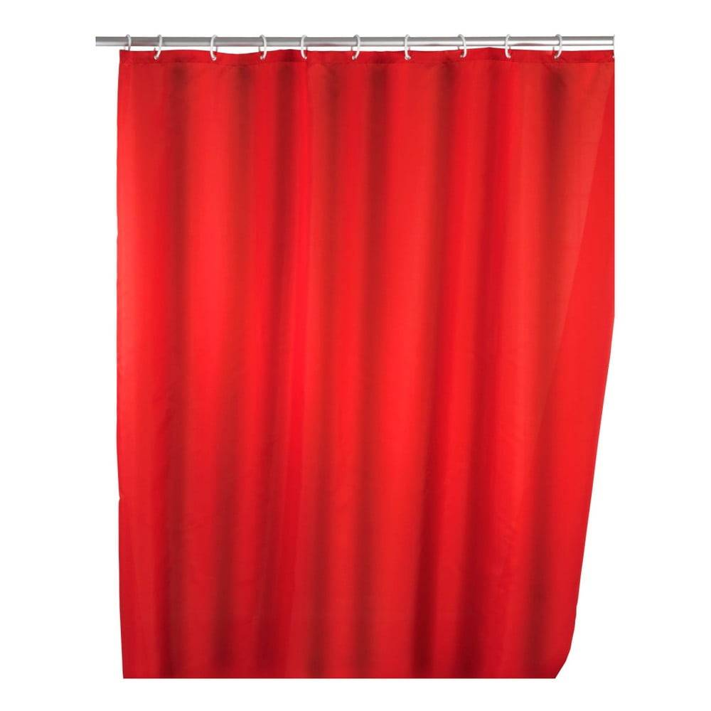 Wenko Červený sprchový záves Wenko Puro, 180 x 200 cm
