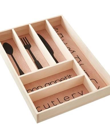 Úložný box na príbory z borovicového dreva Premier Housewares Modern