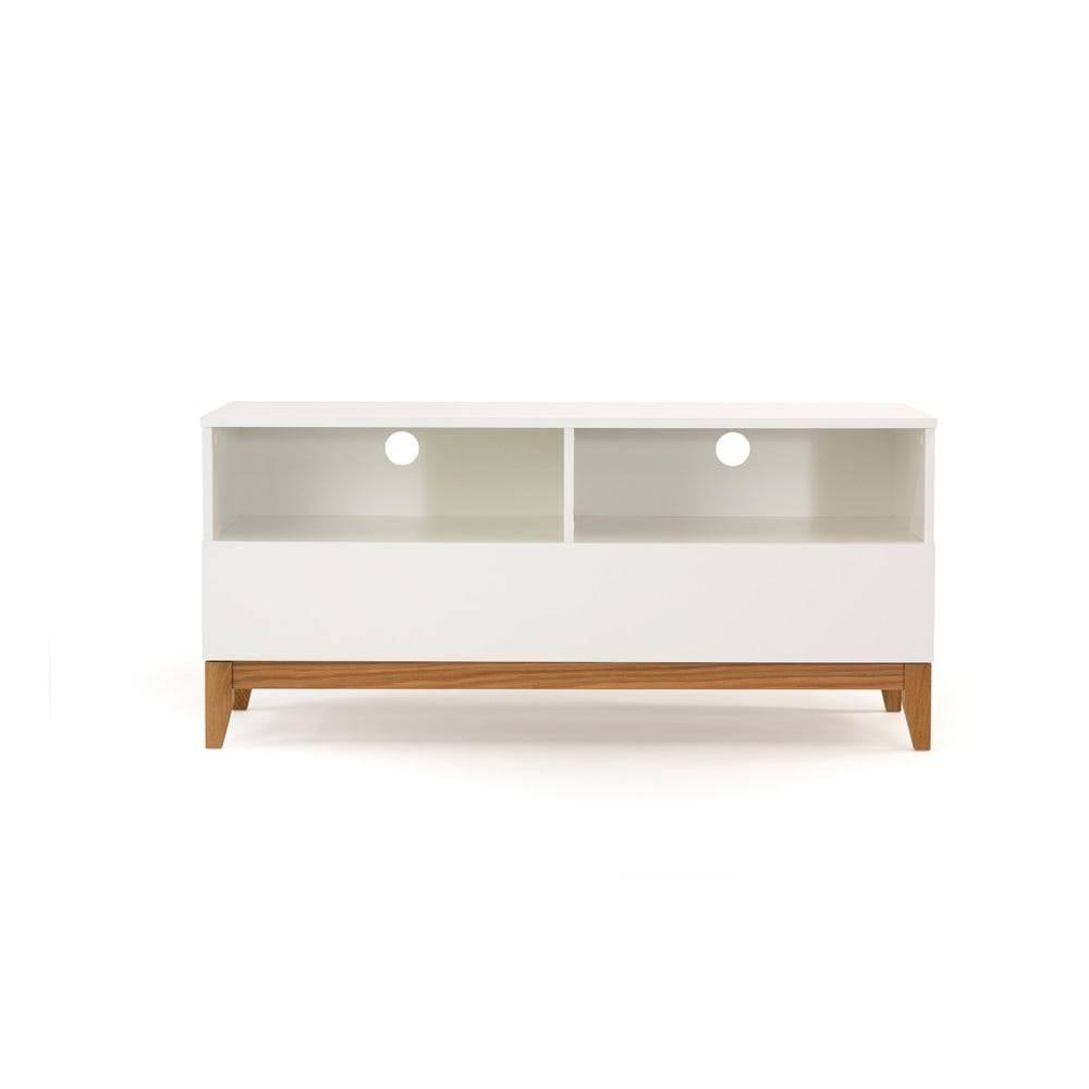 Biely televízny stolík Wood...