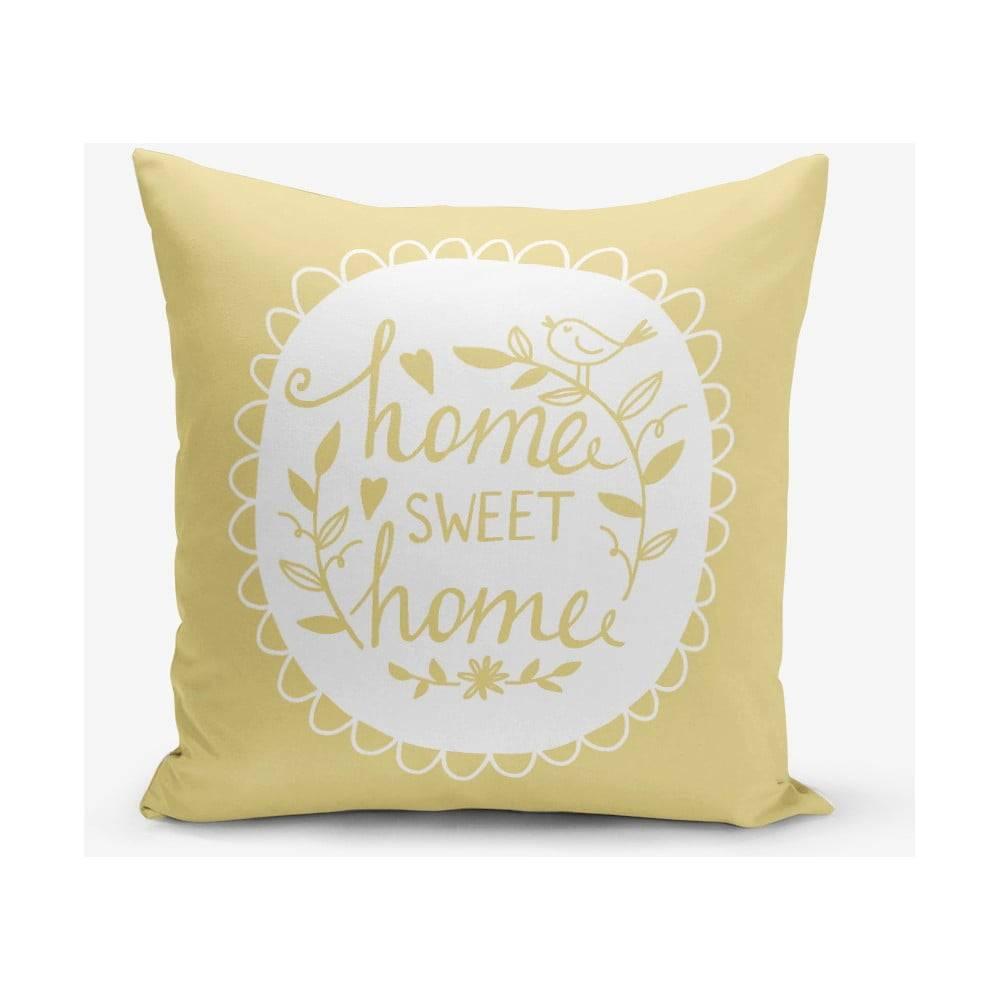 Minimalist Cushion Covers Žltá obliečka na vankúš Minimalist Cushion Covers Home Sweet Home, 45×45 cm