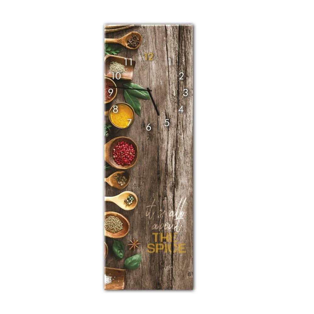 Styler Nástenné hodiny Styler Glassclock Spice, 20×60 cm