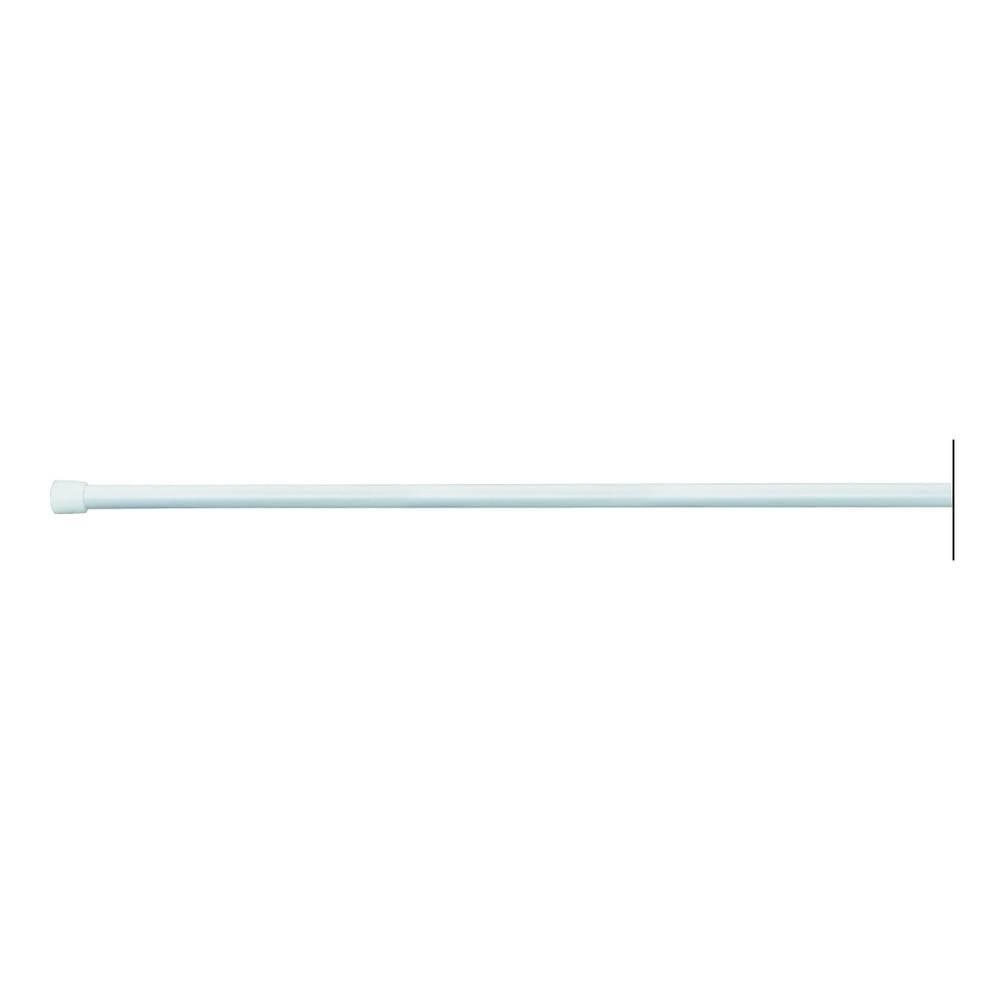 iDesign Biela tyč na sprchový záves s nastaviteľnou dĺžkou InterDesign, 198 - 275cm