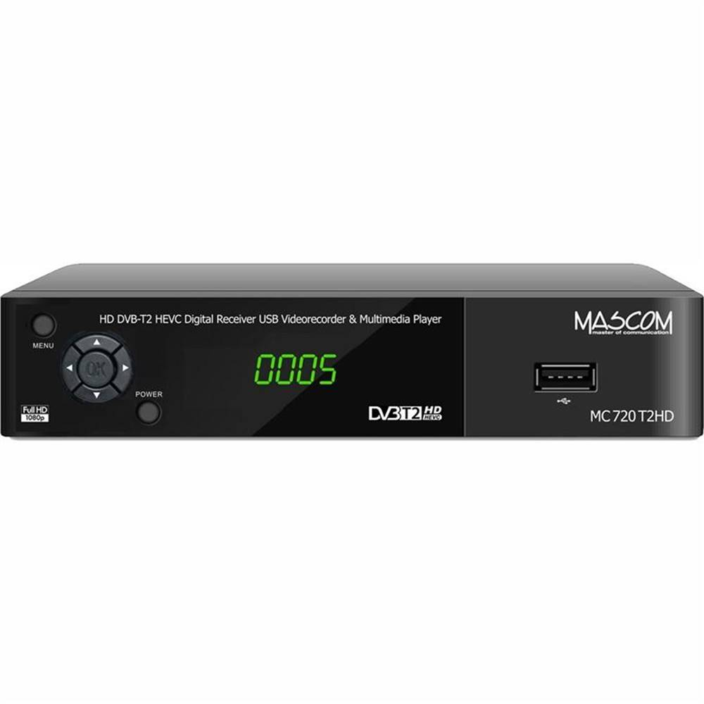 Mascom Set-top box Mascom MC720T2 HD čierny