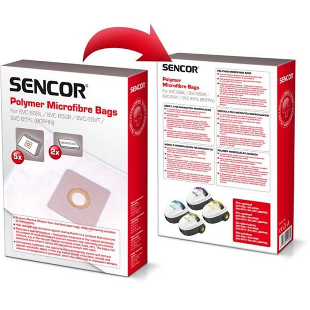 Sencor Sáčky pre vysávače Sencor SVC 65BL/GR/VT/YL