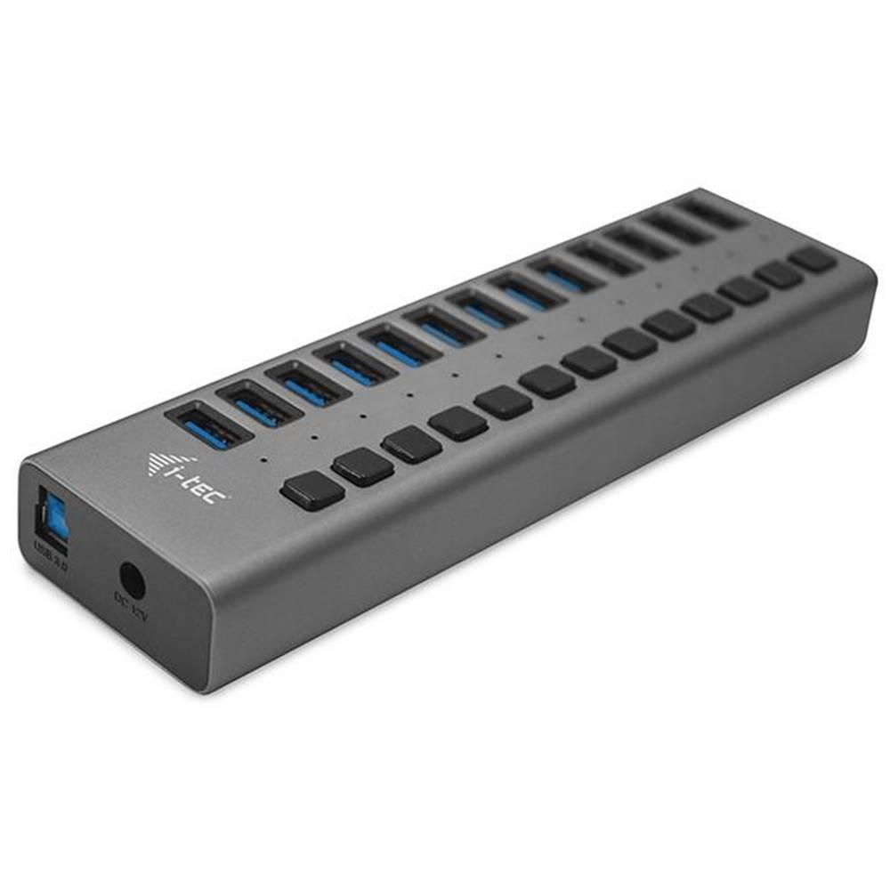 i-tec USB Hub i-tec 13x USB 3.0, 60W strieborný