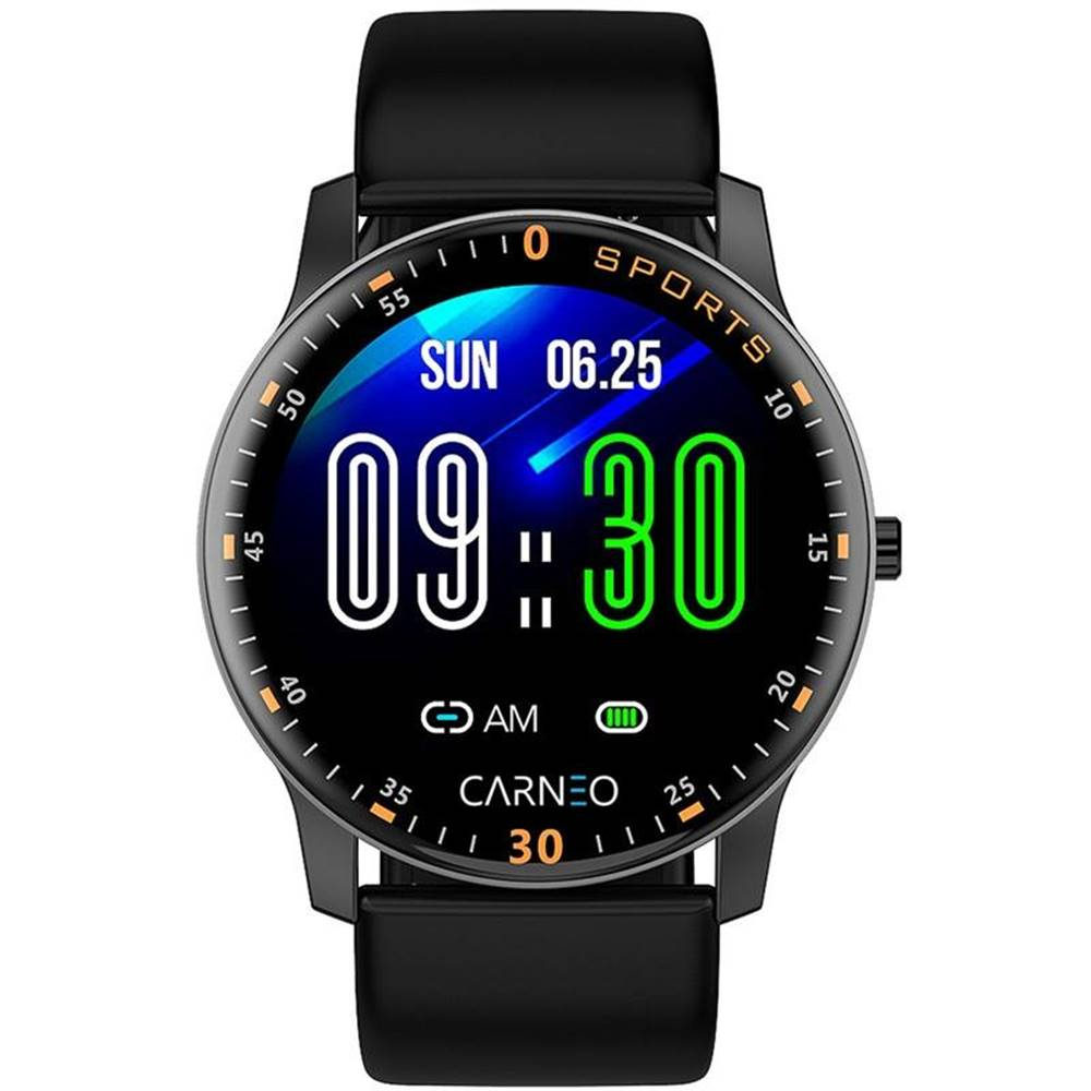 Carneo Inteligentné hodinky Carneo Gear+ platinum čierna