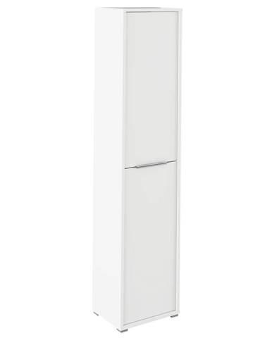 Vysoká skriňa s policami biela RIOMA TYP 06