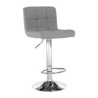 Barová stolička sivohnedá taupe látka/chróm KANDY NEW
