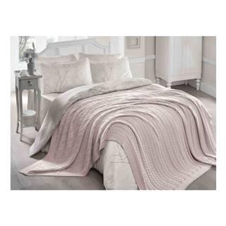 Púdrovoružová deka Hanna, 220×240 cm