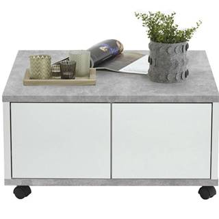 Konferenčný stolík TWIN betón/biela