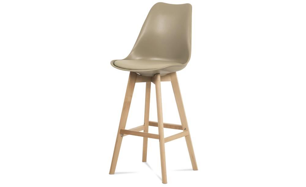 Sconto Barová stolička JULIETTE hnedá/buk