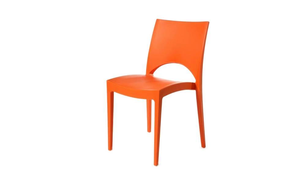 Sconto Jedálenská stolička PARIS oranžová