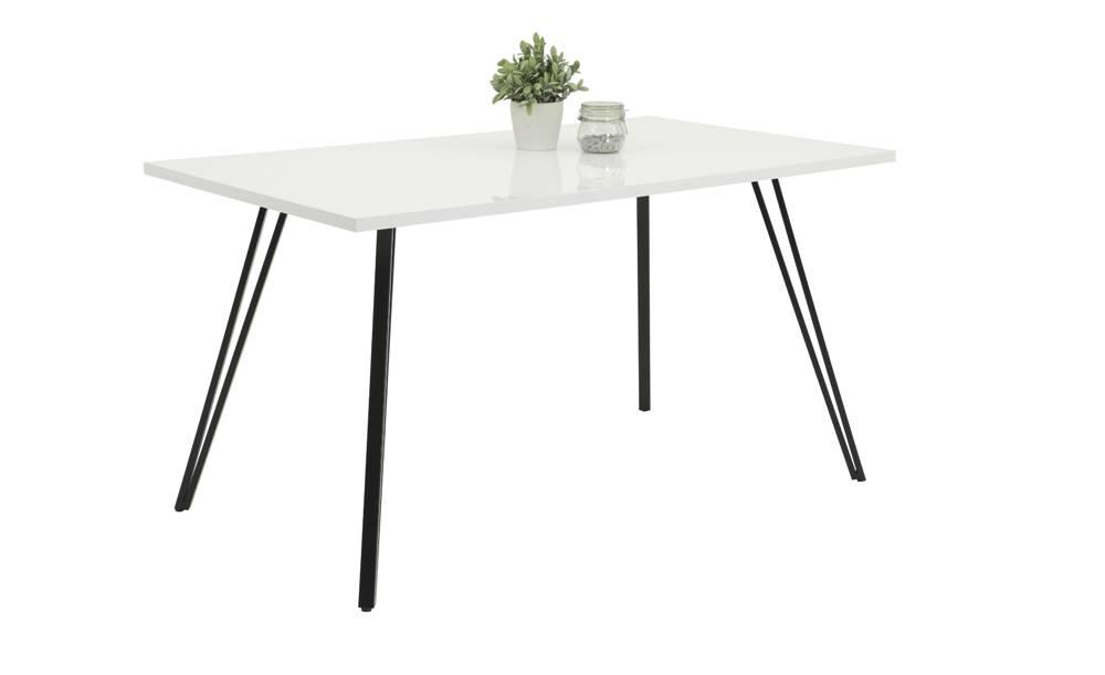 Sconto Jedálenský stôl JENNIFER T biela/čierna